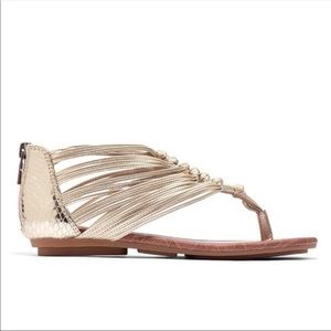 Lucky Brand | Gold Gladiator Sandals